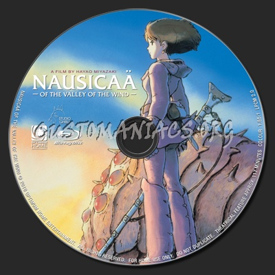 Nausicaa of the Valley of the Wind blu-ray label