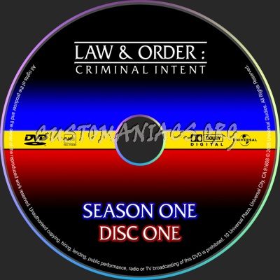 Law & Order Criminal Intent dvd label