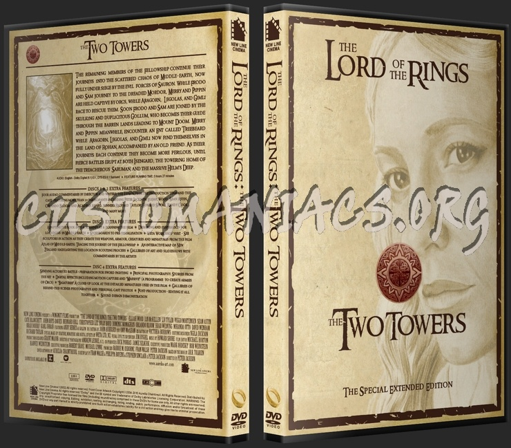 The Two Towers Special Extended Edition dvd cover