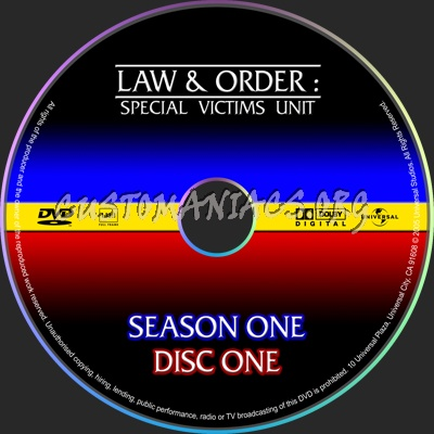 Law & Order Special Victims Unit dvd label