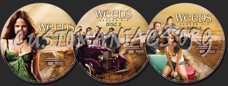 weeds season 6 dvd cover. Weeds Season 6 dvd label