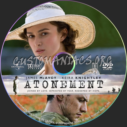 Atonement dvd label