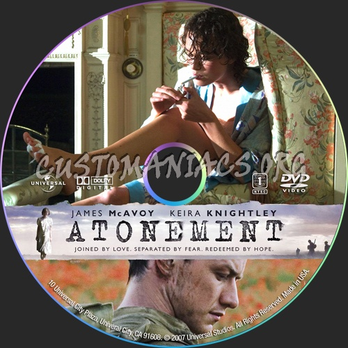 Atonement dvd label