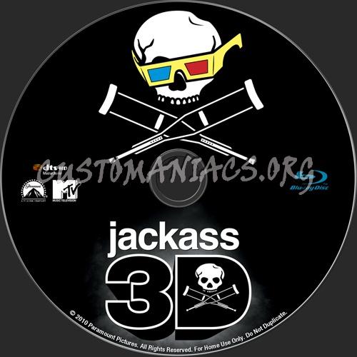 Jackass 3D blu-ray label