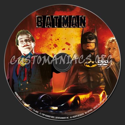 Batman Collection dvd label
