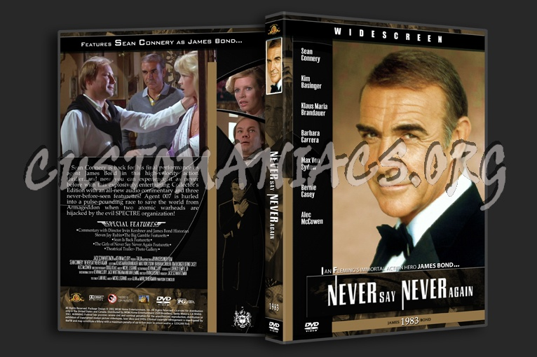 Never Say Never Again - 1983 dvd cover