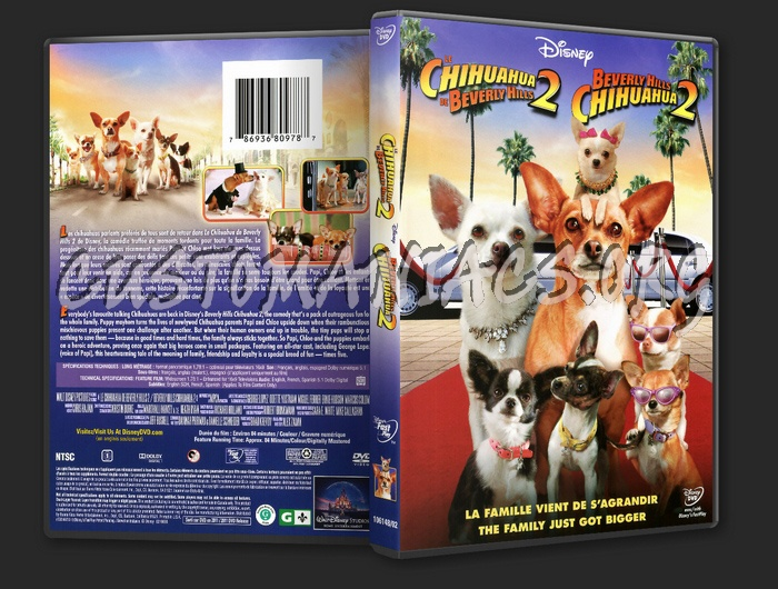 Beverly Hills Chihuahua 2 dvd cover