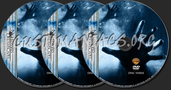 Nightmares & Dreamscapes - TV Collection dvd label