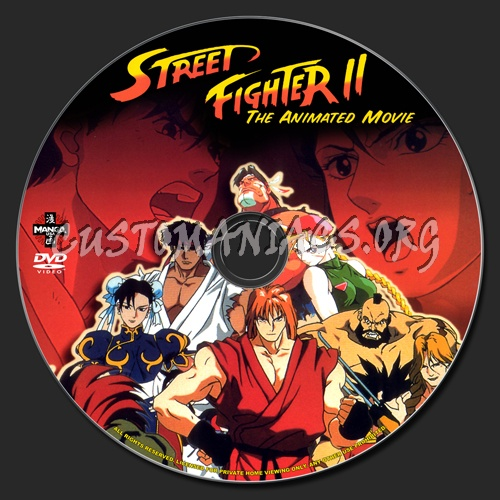Street Fighter 2 The Animated Movie Dvd Label Dvd Covers