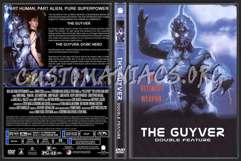 The Guyver Double Feature dvd cover