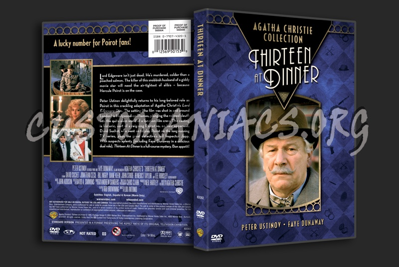 Agatha Chrstie Collection: Thirteen at Dinner dvd cover ...