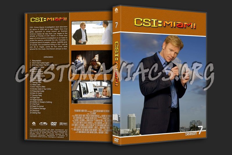 CSI Miami dvd cover