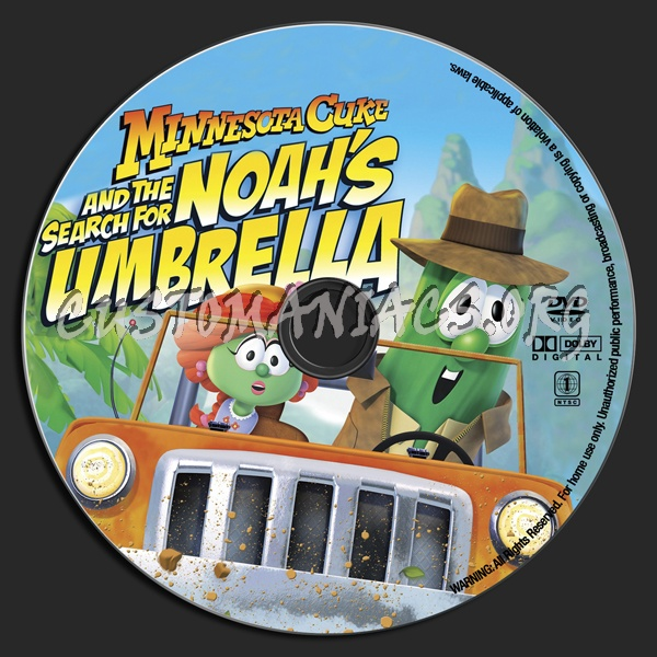 VeggieTales Minnesota Cuke And The Search For Noah's Umbrella dvd label
