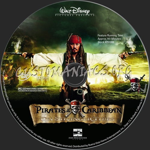 Pirates of the Caribbean: On Stranger Tides dvd label