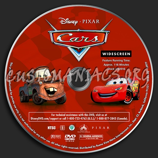 Cars Dvd Label Dvd Covers Labels By Customaniacs Id 131172