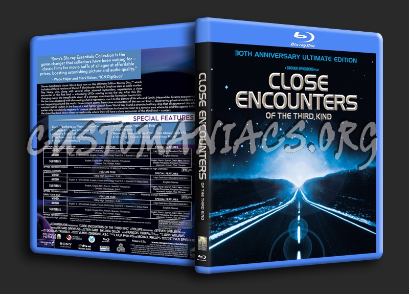Close Encounters of the Third Kind blu-ray cover
