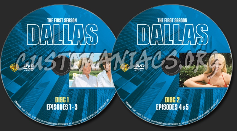 Dallas Season 1 dvd label