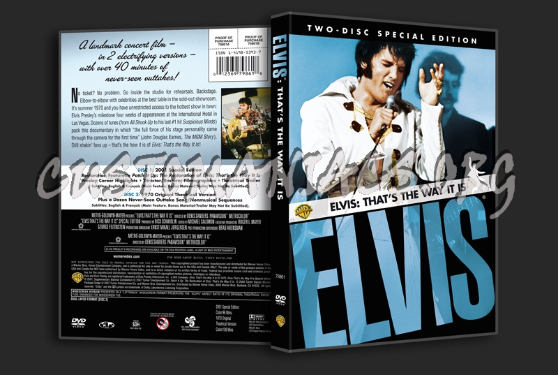 Elvis: That's the Way It Is dvd cover