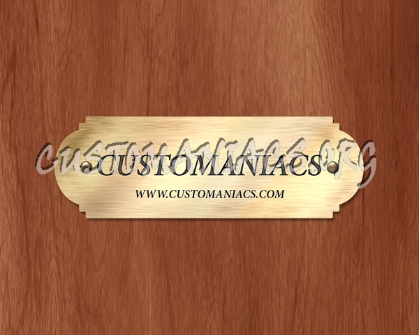 Gold Nameplate