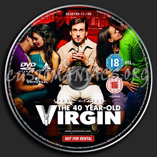 The 40 Year Old Virgin dvd label