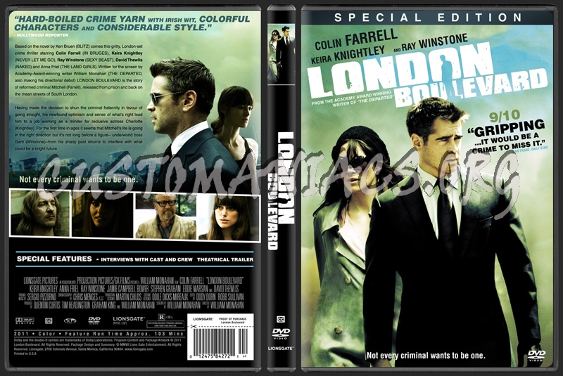 London Boulevard dvd cover