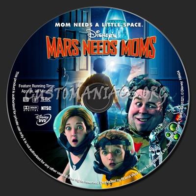 Mars needs Moms dvd label