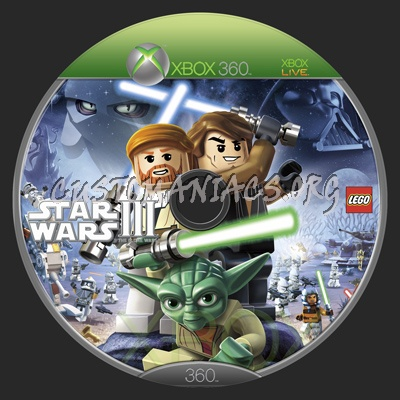 LEGO Star Wars III: The Clone Wars dvd label