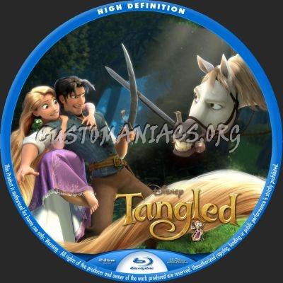 Tangled blu-ray label