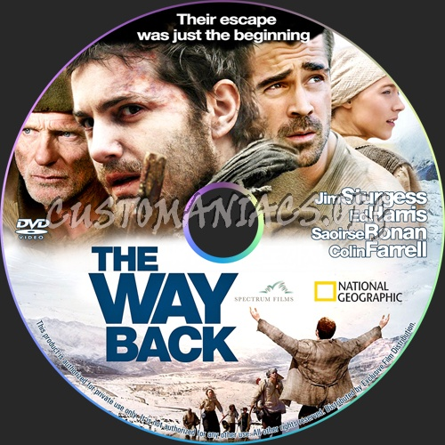 The Way Back dvd label