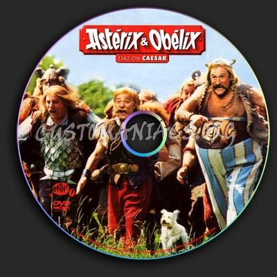Asterix & Obelix take on Caesar dvd label