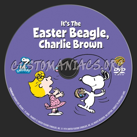 It's the Easter Beagle, Charlie Brown dvd label
