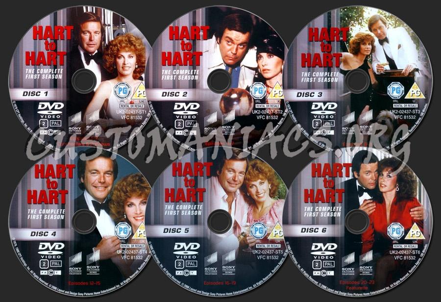 Hart to Hart Season 1 dvd label