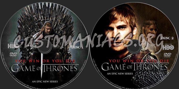 Game of Thrones dvd label