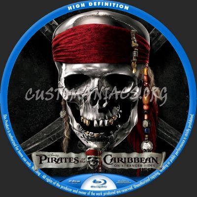 Pirates Of The Caribbean: On Stranger Tides blu-ray label