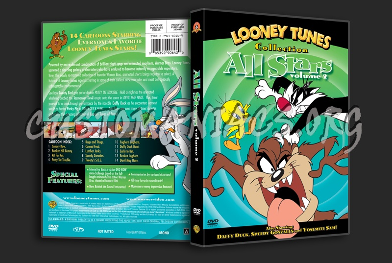 Looney Tunes Collection All Stars Volume 2 dvd cover