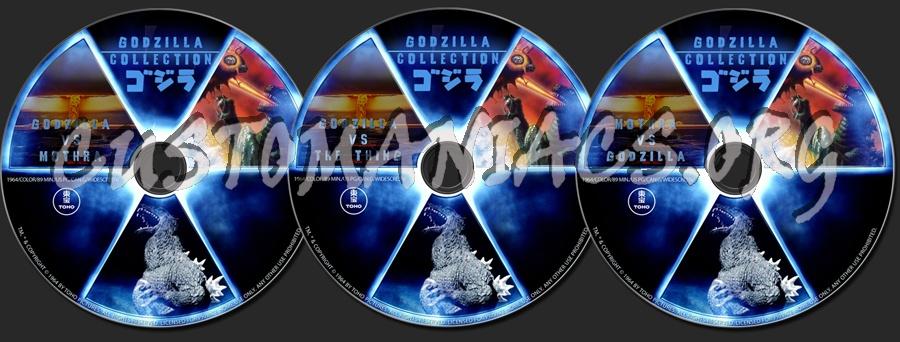 Mothra vs Godzilla / Godzilla vs The Thing dvd label