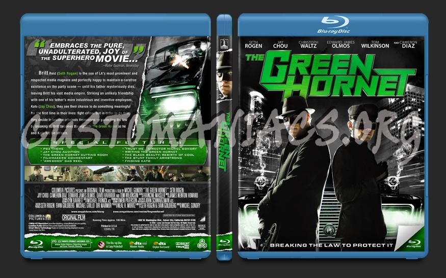 The Green Hornet blu-ray cover
