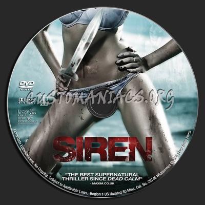 Siren dvd label
