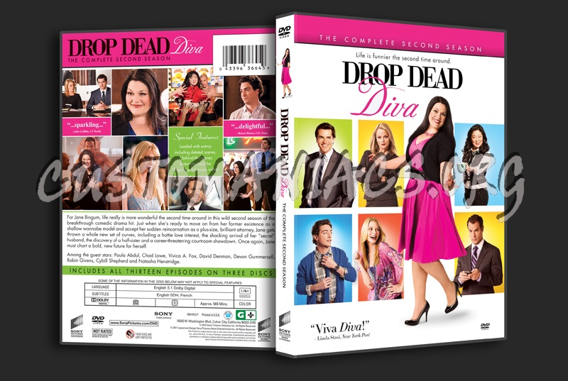 Drop dead diva season 2 dvd cover dvd covers labels by customaniacs id 132533 free - Drop dead diva dvd ...