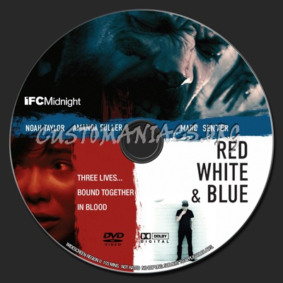 Red White and Blue dvd label