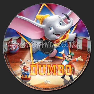 Dumbo blu-ray label