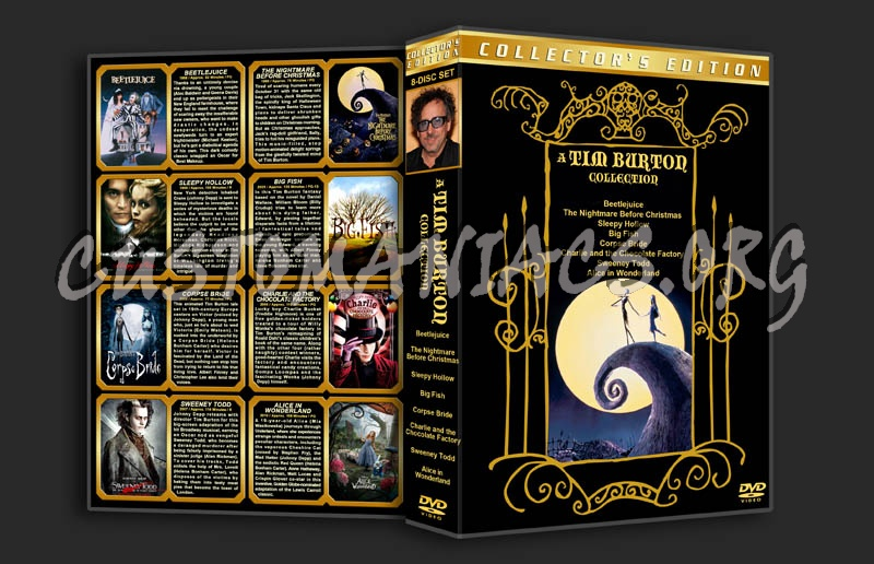 A Tim Burton Collection dvd cover