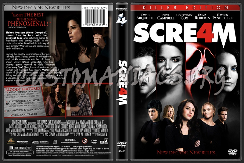 Scream 4 dvd cover - DVD Covers & Labels by Customaniacs, id