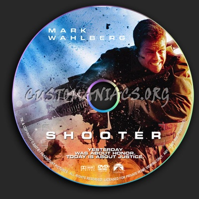 Shooter dvd label