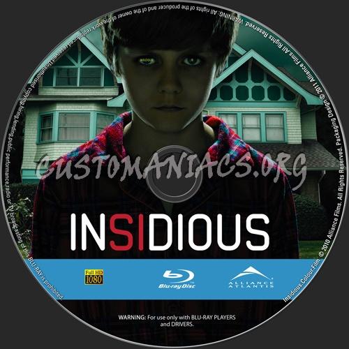Insidious blu-ray label