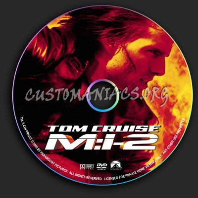 Mission Impossible 2 dvd label