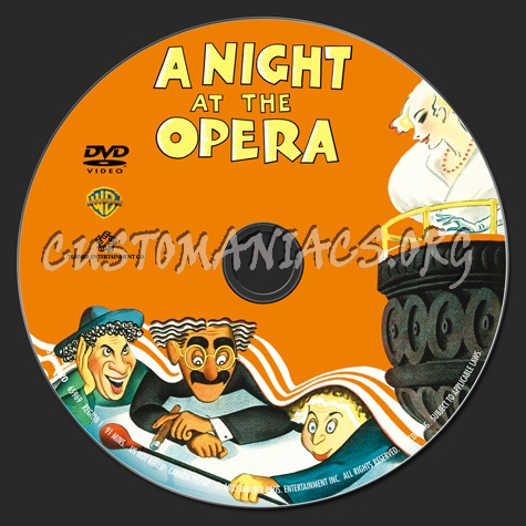 Marx Brothers A Night at the Opera dvd label