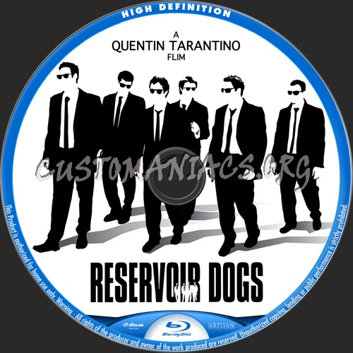 Reservoir Dogs blu-ray label