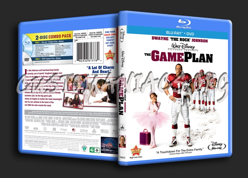Game Plan Dvd The Game Plan Blu-ray Cover
