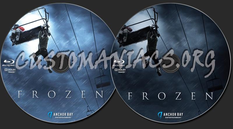 Frozen blu-ray label